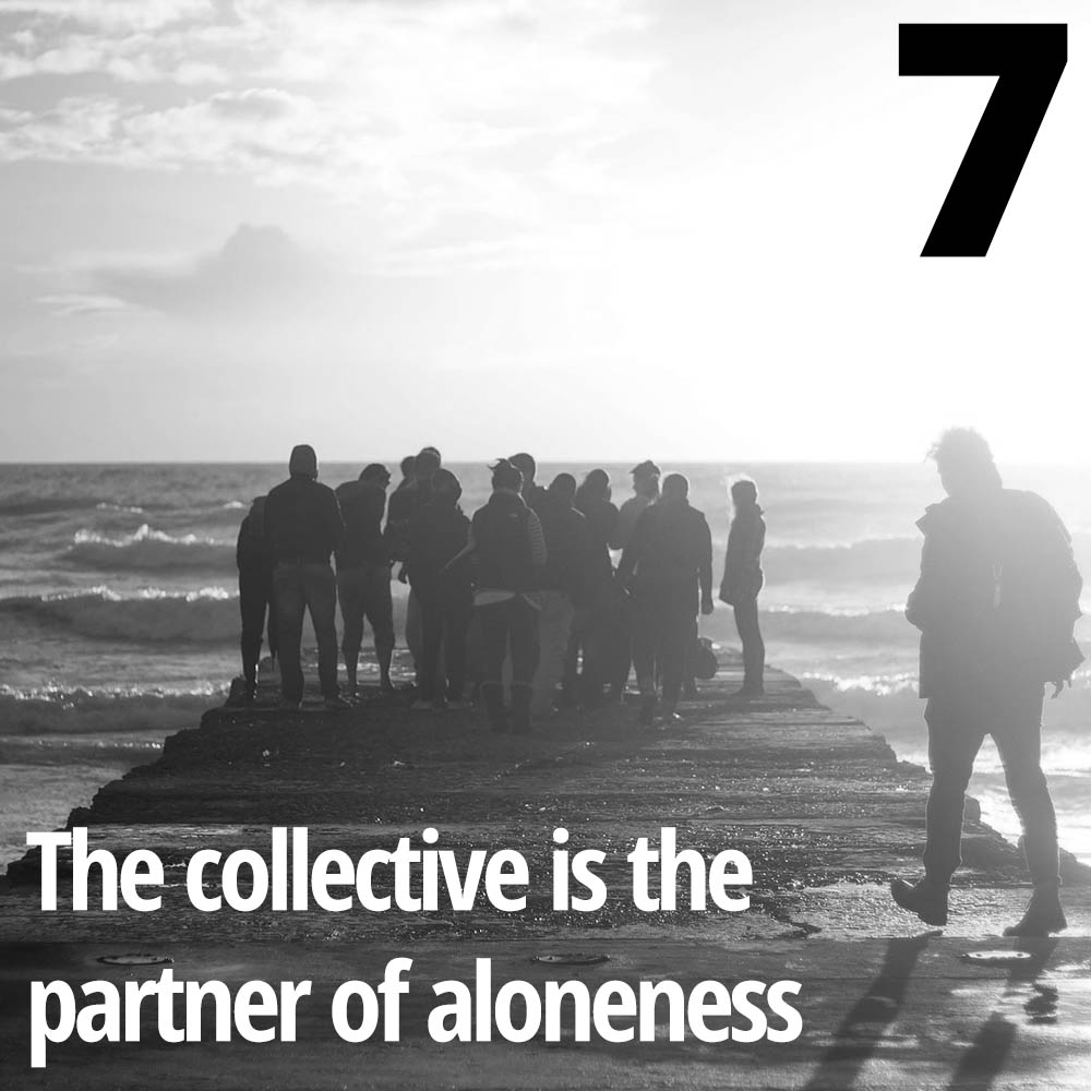 The collective and the individual in a dialectic process hone the skills of the activist educator.